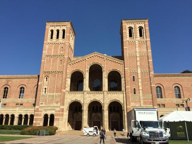 미국 로스앤젤레스 캘리포니아대(UCLA)에서 가장 먼저 지어진 건물인 로이스홀.  - 로스앤젤레스=이현경 기자 uneasy75@donga.com 제공